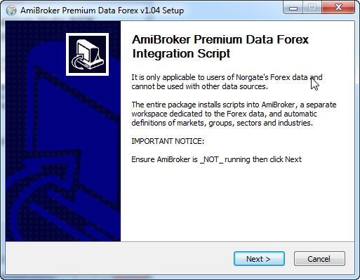 Forex data for amibroker